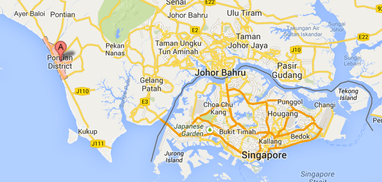 Location of Pontian