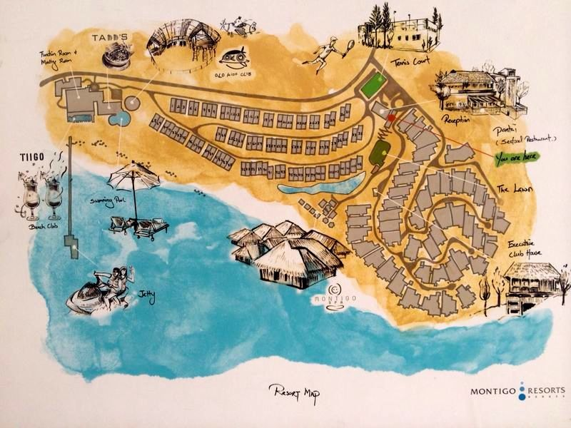 The map of Montigo Resort