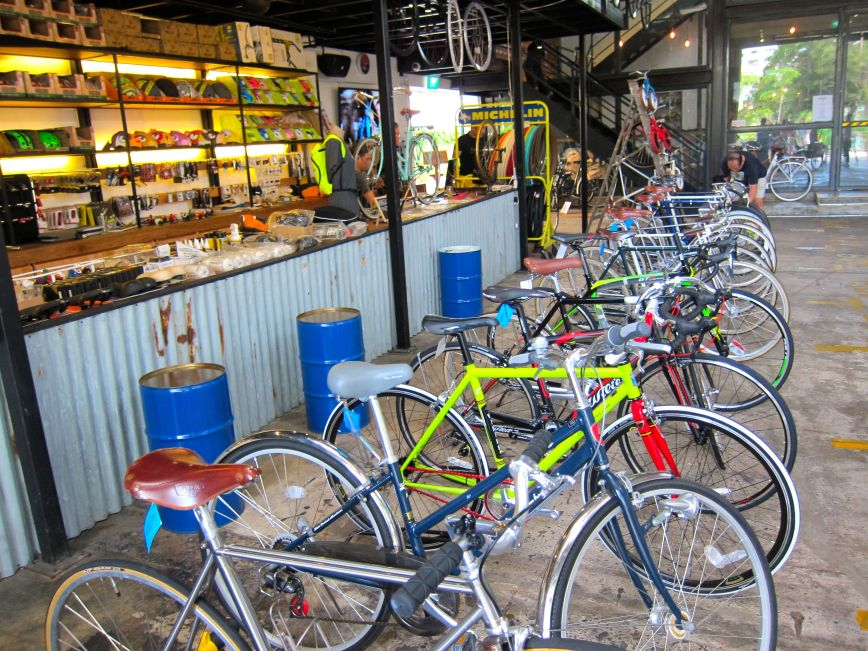 Rows of bicycle for sale